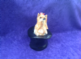 Eve Pearce Hand-Made Model - Yorkshire Terrier in Top Hat * SALE *